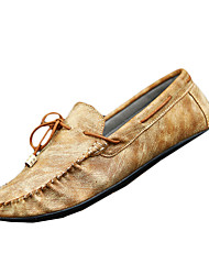 Men's Loafers & Slip-Ons Summer Moccasin / Round Toe / Flats PU Casual Flat Heel Others Brown / Gray Others
