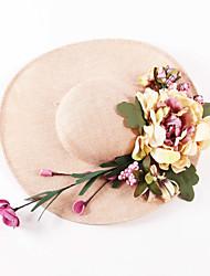 Women Linen Bucket Hat,Vintage All Seasons