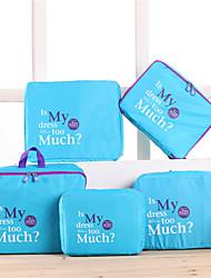 bolsas de nylon del hogar del recorrido del bolso de terminar cinco 5 juegos