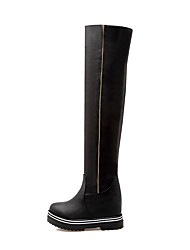Women's Shoes Fall / Winter Fashion Boots / Round Toe Boots Office & Career / Dress / Casual Platform Zipper