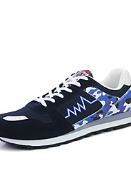 Men's Shoes Outdoor Fashion Sports Shoes Leisure Microfiber Fabric Shoes Blue//Red/Grey