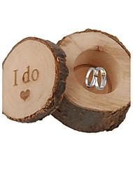 1 Шт./набор Фавор держатель-Цилиндр Дерево Подарочные коробки Без персонализации