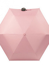 Rosa Paraguas de Doblar Soleado y lluvioso textil Viaje / Lady / Hombre