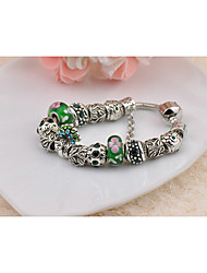 Women's Circle Green Grass  Strand Bracelets 1PC