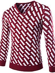 Men's Print Casual Cardigan,Wool Long Sleeve Black / Blue / Red
