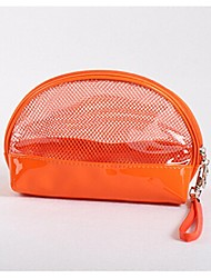 Women PVC Professioanl Use Cosmetic Bag Orange Red Blue Blushing Pink Light Green