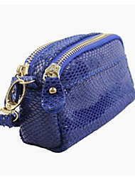 Women Coin Purse Cowhide Casual Blue