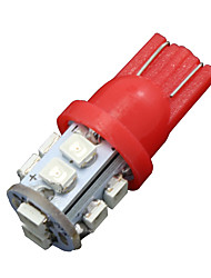 10x чистый красный T10 W5W клина сторона 10-SMD LED резервного копирования обратного света 2825 921 192 906