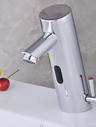 Contemporary Centerset Touch/Touchless with  Solenoid valve Hands free One Hole for  Chrome , Bathroom Sink Faucet