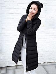Damen Gefüttert Mantel - Street Schick Langarm Polyester