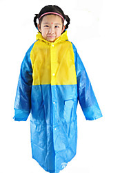Red / Green / Blue / Pink Raincoat Rainy Plastic Kids / Travel