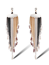 TIANSHE Women'S Europe and the United States and Europe style long fashion handmade earrings Alloy 1 pair