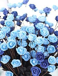 1 Une succursale Polyester Roses Fleur de Table Fleurs artificielles 50