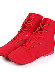 Customizable Women's Dance Shoes Canvas Canvas Jazz / Dance Boots Boots / Sneakers Low Heel Beginner /