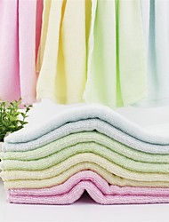 """1 PC Bamboo Fiber Hand Towel 10"""" by 19"""" Solid Multicolor Strong Water Absorption Capacity"""