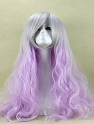 Purple Cosplay Wig Sex Products Synthetic Wig Lolita Wig  Hair Wigs 80cm Long Loose Wavy Perruque Peruca