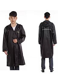 Black Raincoat Rainy Plastic Travel / Lady / Men