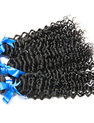 3 Pieces Curly Human Hair Weaves Malaysian Texture Human Hair Weaves Curly