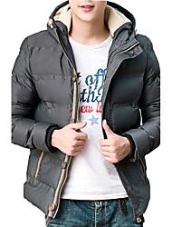 The new Korean men's winter coat jacket men thick jacket Hooded Winter Youth slim short Mianfu