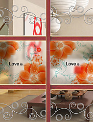 Window Film Window Decals Style Summer Flowers Bright Matte PVC Window Film - (60 x 58)cm