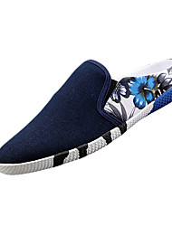 Men's Slippers & Flip-Flops Summer Flats Canvas Casual Flat Heel Slip-on Black / Blue / Red Others