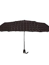 Rojo / Negro / Blanco / Rosa Paraguas de Doblar Soleado y lluvioso textil Viaje / Lady / Hombre