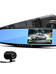4,3 pouces avant et après le miroir anti-éblouissement tachygraphe 1080p HD enregistrement à double surveillance de stationnement d'image