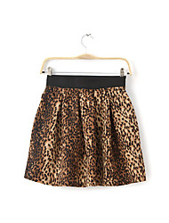 Women's Leopard Yellow Skirts,Sexy / Vintage Mini