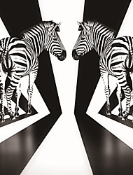 JAMMORY 3XL(14'7''*9'2'')3D Wallpaper For Home Contemporary Wall Covering Canvas Material Zebra Perspective