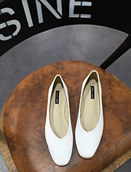 Women's Flats Spring / Summer / Fall Flats Microfibre Casual Flat Heel Others Black / White / Gray / Almond Others