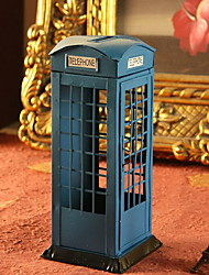 Iron Crafts Phone Booth Piggy Bank Ornaments (Random Colors)
