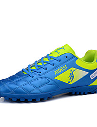 Men's Athletic Shoes Spring / Summer / Fall Round Toe PU Athletic Flat Heel Lace-up Black / Blue / Yellow / RedTrack
