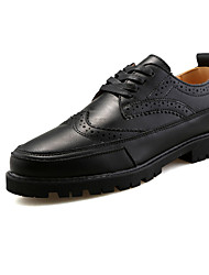 Men's Flats Spring / Fall Comfort / Ankle Strap PU Casual Low Heel Lace-up Black / White Others