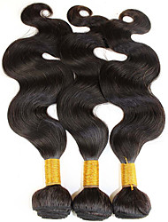 "3 Pcs Lot 8""-30""Virgin Malaysian Body Wave Hair Wefts Natural Black 1B# Cheap Remy Human Hair Weave Bundles Tangle Free"