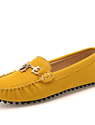 Women's Loafers & Slip-Ons Spring/Summer/Fall Flats Suede Office & Career / Dress / Casual Flat Heel Yellow/Red Sneaker