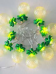 NO 1.5 M 10 LED Dip Amarelo Prova-de-Água W Cordões de Luzes <5V V