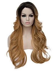 son peluca parcial harajuku gradiente, Lolita, peluca de la peluca,