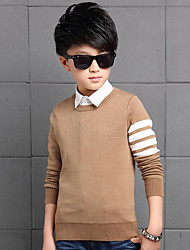 Boy's Casual/Daily Striped Sweater & Cardigan,Rayon Winter / Spring / Fall Blue / Yellow