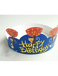Birthday Party Tableware-100Piece/Set Cake Accessories Flowers Hard Card Paper Floral Theme Other
