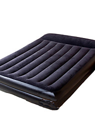 / Compression / Rectangular PVC / Flannel Air Mattress Dark Blue / Purple Air Mattress