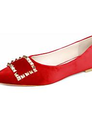 Dames Platte schoenen Comfortabel Fleece Zomer Causaal Comfortabel Gesp Platte hak Grijs Rood Blauw Marine Blauw Plat