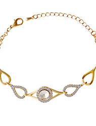 Bracelet/Chain Bracelets Alloy / Rhinestone Oval Fashionable / Inspirational Party / Daily Jewelry Gift Gold1pc