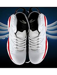 Unissex-TênisRasteiro-Preto Branco Preto e Vermelho Preto e Branco-Couro Ecológico-Ar-Livre Para Esporte