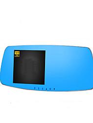 зеркало 5 дюймов синий зеркало вождения рекордер двойной объектив ультра HD 1080p ночного видения