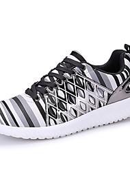 Femme-Extérieure / Décontracté / Sport-Noir / Jaune / Gris-Talon Bas-Confort-Sneakers-Cuir