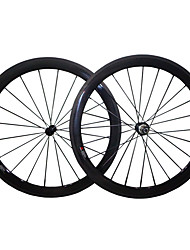 50C-23mm R13 Hub Carbon Fiber 700c Road Bike Wheelsets Clincher 3k Weave Clear /Matte Finish Wheels with 9/10/11S