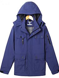 Men's Long Sleeve Casual / Sport / Plus Size JacketNylon Solid Blue / Green / Orange / Gray