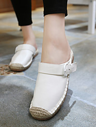 Women's Flats Spring / Summer / Fall Flats Cowhide Casual Flat Heel Braided Strap White Others