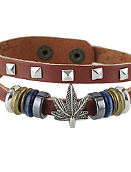 Brown Pu Leather Adjustable Bracelets