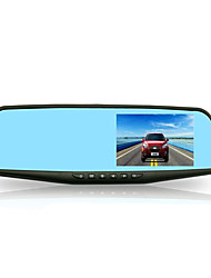 4.3 Inch Rear View Mirror Double Lens Panoramic Reversing Image HD Driving Recorder